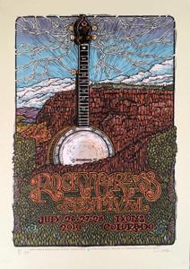 RockyGrass Festival Poster 2019 Original Signed Silkscreen Gary Houston w/COA
