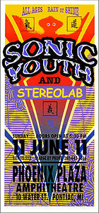Sonic Youth Poster Stereolab 2000 Signed Silkscreen Mark Arminski
