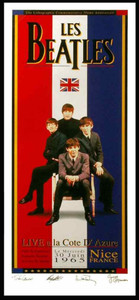 The Beatles in France Poster Anniv 1st French Appearance Cote DAzure 1965