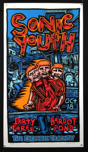 Sonic Youth Poster Electric Factory 1995 Ltd Hand-signed Silkscreen John Howard