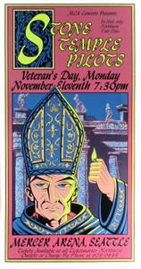 Stone Temple Pilots Poster Seattle 1996 500 Orig Silkscreen Justin Hampton
