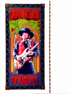 Stevie Ray Vaughan Fan Club Poster 2012 Uncut Printer's Proof Signed Bob Masse