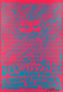 Steve Miller Blues Band Poster Vancouver 1967 New Artist Print Signed Bob Masse