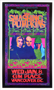 Smashing Pumpkins Poster Infinite Sadness Tour 1995 Hand Signed by Bob Masse