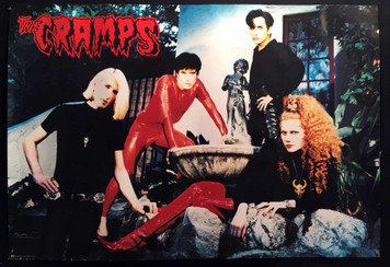 "The Cramps 1994 Promo Poster for ""Flamejob"" 2-Sided on Thick Paper Stock"