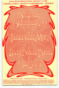 Fleetwood Mac Elvin Bishop Handbill 1973 Contra Costa County Fairgrounds MINT