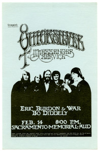 Quicksilver Messenger Service Handbill Eric Burdon & War Bo Diddley Rick Griffin