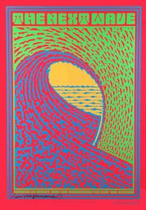 The Next Wave Surf Poster for 2006 Scrips Benefit Signed by John Van Hamersveld
