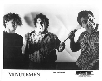 THE MINUTEMEN Mike Watt Vintage 8x10 b&w Press Photo 3 WAY TIE SST Records 1985