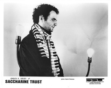 SACCHARINE TRUST 8x10 b&w Press Photo + 1 flyer SST Records Jack Brewer 1986