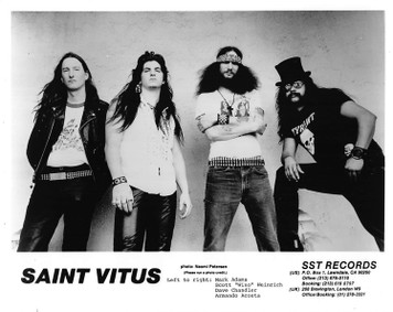 SAINT VITUS Press Kit 8x10 B&W PRESS PHOTO 10 pgs Bios Clips SST Records 1987