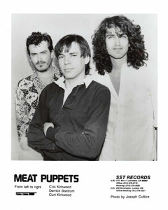 "MEAT PUPPETS Vintage Press Kit 8""X10"" b&w Press Photo + 8 pgs Clips Bios 1988"