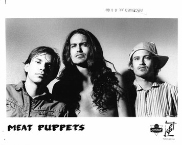 "MEAT PUPPETS Forbidden Places Curt Kirkwood 8""X10"" b&w Press Photo 1991"