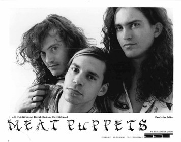 "MEAT PUPPETS II Press Kit 8""x10"" b&w Glossy Press Photo + 2 Pgs SST Records '84"
