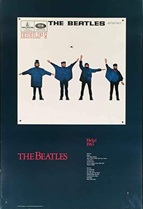 "Beatles Poster""HELP!"" 1965 Original EMI Songlist Determined Productions '87 COA"