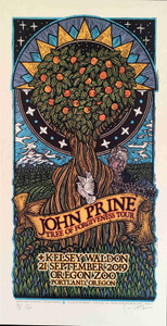 John Prine Tree of Forgiveness Tour Poster Kelsey Waldon Gary Houston S/N #5 COA