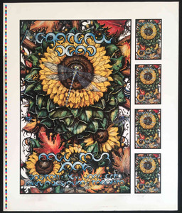 Grateful Dead Poster Cancelled 1995 Fall Tour Uncut Proof S/N by Michael Everett