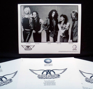 "AEROSMITH ORIGINAL Press Kit Big Ones 1994 b&w 8""x10"" glossy photo + 6 assorted"