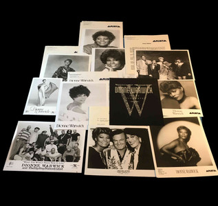 Dionne WarwickPhoto Press Kit Lot 27 Pieces Luther Van Dross USA for Africa MINT