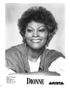 "Dionne Warwick Closeup White Shirt and Coverup 8""x10"" B&W Glossy Photo"