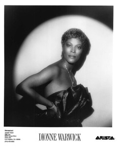 "Dionne Warwick Black Strapless Dress,Necklace & Bracelet 8""x10"" B&W Glossy Photo"