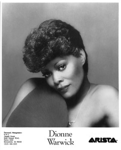 "Dionne Warwick Closeup and Necklace 7 ½ ""x 9"" B&W Glossy Photo"