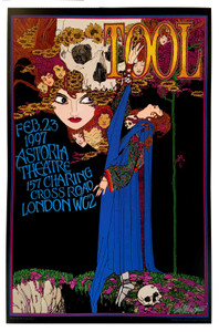 TOOL Astoria Theater London 1997 Tribute Hand-Signed Giclee Print by Bob Masse
