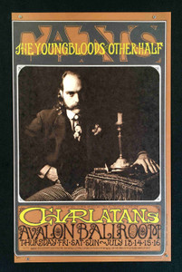 Charlatans Poster Avalon Ballroom FD71 1st Printing NM 1967 by Robert Fried