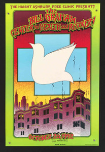 Bill Graham Center for Health and Recovery 1992 Opening Poster Randy Tuten 1992