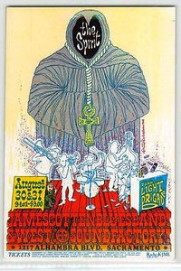 The Spirit James Cotton Original Handbill Sound Factory Sacramento 1968 Mint