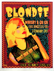 Blondie Poster Whisky A Go Go Debut Performance Tribute SN 100 David Byrd COA