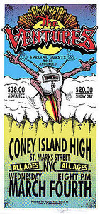 The Ventures Poster Coney Island High Signed Silkscreen Mark Arminski
