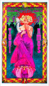 Tori Amos Original 1999 Art Nouveau Fan Poster Hand-Signed in Ink by Bob Masse