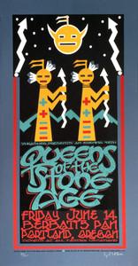 Queens of the Stone Age Poster Portland 2002 Hand Signed Gary Houston QOTSA COA