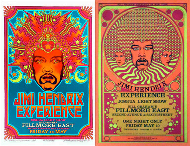 Jimi Hendrix Experience Fillmore East both versions Signed by David Edward Byrd