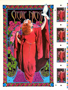 Rare Stevie Nicks Orig 1998 Uncut Poster Sheet White Wing Dove Signed Bob Masse