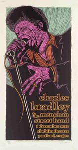 Charles Bradley Poster Portland 2012 S/N 120 Hand-Signed Silkscreen Gary Houston