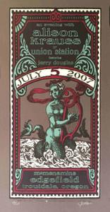 Alison Krauss Union Station Jerry Douglas Poster McMenamins Signed Gary Houston