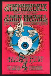 BG105-2 Jimi Hendrix Poster John Mayall Fillmore Winterland 68 2nd Rick Griffin