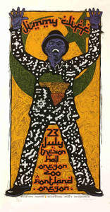 Jimmy Cliff Poster Oregon Zoo 2010 Original Silkscreen S/N 135 Gary Houston COA