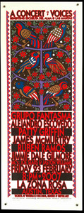 Concert of Voices Poster Alej Escovedo James McMurtry Jimmy D Gilmore Austin 07