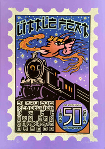 Little Feat Poster Revolution Hall No Excuses, No Regrets 50th Anniv Tour SN 125