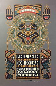 Phil Lesh Bob Dylan Poster Rare Original Signed Gary Houston Print Portland 2000