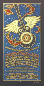 Warren Haynes Xmas Jam Poster Steve Miller Gregg Allman Hand Signed Gary Houston