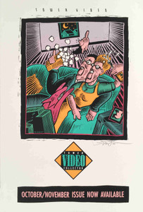 Tower Records Video Original Poster Scare Dog October 1991 Signed Mike Welch COA