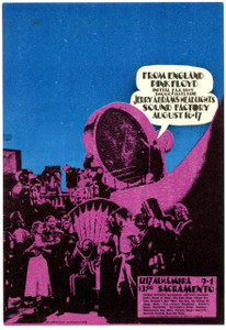 Pink Floyd Handbill Original Sound Factory Sacramento 1968 AoR 3.19 Flawless
