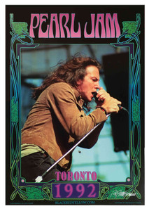 1992 Original Pearl Jam Poster Fan Club-Commission Hand-Signed by Bob Masse COA