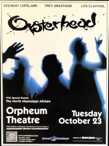 OYSTERHEAD Original 1992 Concert Poster S. Copeland T. Anastasio L. Claypool
