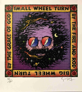 "Jerry Garcia ""The Wheel"" Archival Blotter S/N 130 Hand-Signed by Gary Houston"