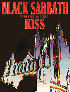 Black Sabbath Kiss Poster Baltimore 1975 Nice Reprint by Scotty C Uncut Proof